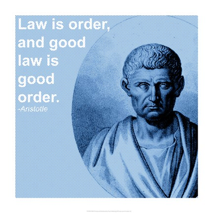 Framed Aristotle Law Quote Print