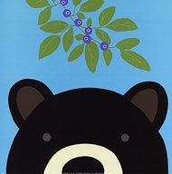 Peek-a-Boo Bear  Fine Art Print