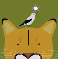 Peek-a-Boo Puma  Fine Art Print