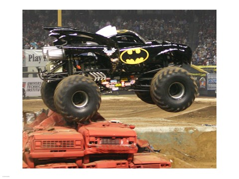 Framed Batman Monster Truck Print