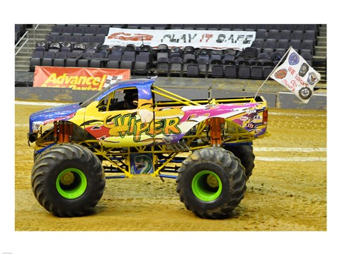 Framed Viper Monster Truck Print