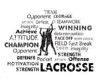 Lacrosse Text  Fine Art Print