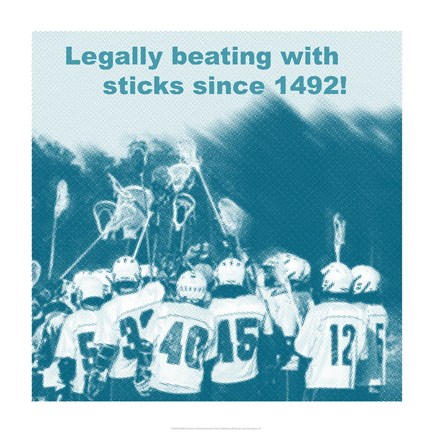 Framed Legally Beating with Sticks Since 1492 Print