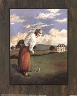 Victorian Golfer - Woman Art