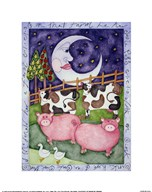 Old MacDonald Pigs  Fine Art Print