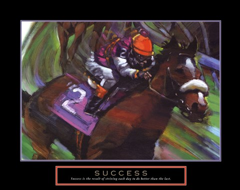 Framed Success - Horse Print