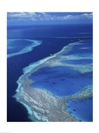 Aerial view of a coastline, Hardy Reef, Great Barrier Reef, Whitsunday Island, Australia