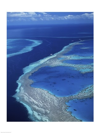 Framed Hardy Reef, Great Barrier Reef, Whitsunday Island, Australia Print