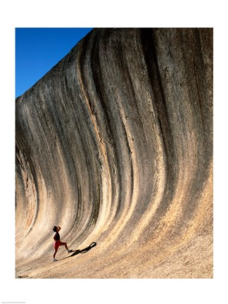 Framed Low angle view of a rock, Wave Rock, Hyden, Western Australia, Australia Print