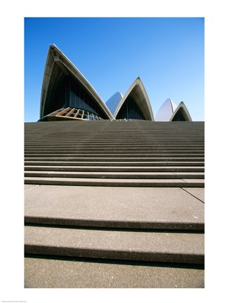 Framed Low angle view of an opera house, Sydney Opera House, Sydney, New South Wales, Australia Print