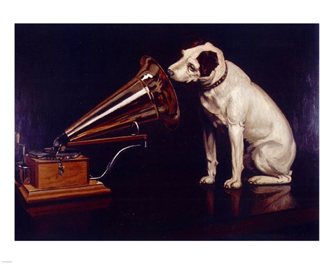 His Masters Voice Fine Art Print By Unknown At