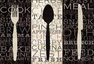 Kitchen Words Trio  Fine Art Print