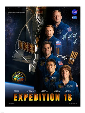 Framed Expedition 18 Crew Poster Print