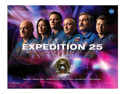Framed Expedition 25 Mission Poster Print