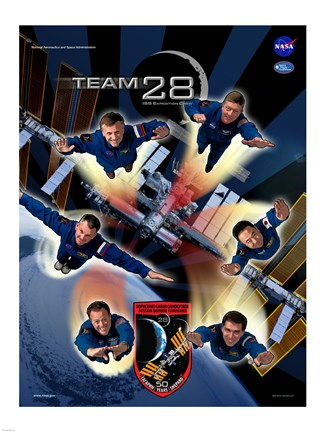 Framed Expedition 28 Supermen Crew Poster Print