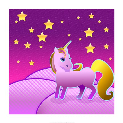 Framed Stary Sky Unicorn Print