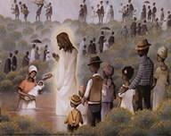Black Baptism Art