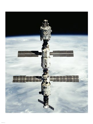 Framed International Space Station after Russian module installation Print