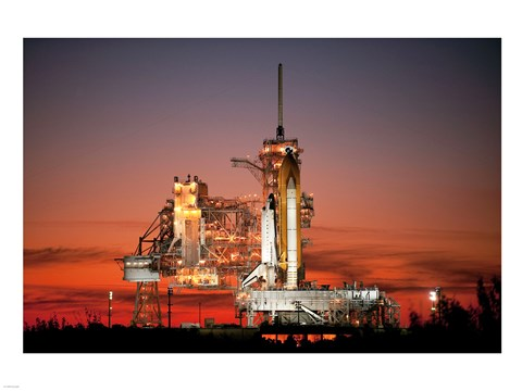 Framed STS-129 Atlantis Ready to Fly Print