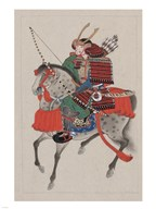 Samurai Riding a Horse Art