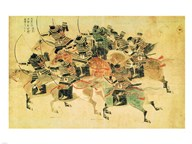 Samurais on horseback  Fine Art Print