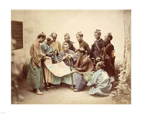 Framed Satsuma samurai during boshin war period Print