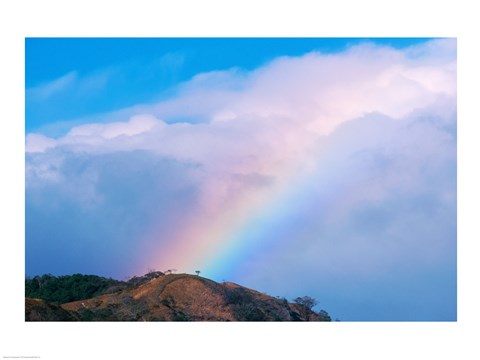Framed Rainbow at Monteverde Cloud Forest Reserve, Costa Rica Print
