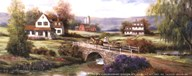T.c. Chiu - Farm with Stone Bridge Size 4x10