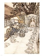 Alice in Wonderland A Mad Tea Party  Fine Art Print