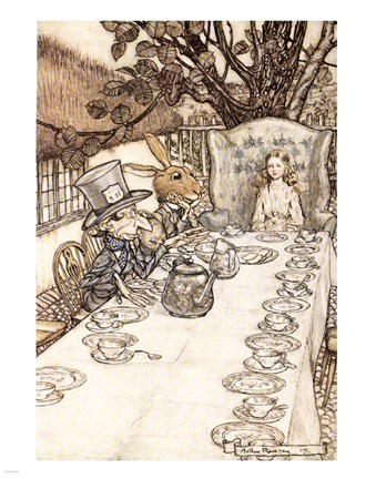 Framed Alice in Wonderland A Mad Tea Party Print