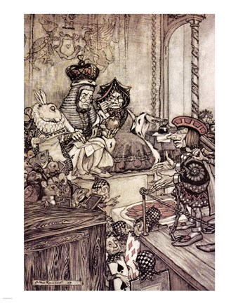 Framed Alice in Wonderland, Who stole the Tarts Print