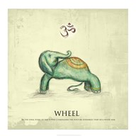 Elephant Yoga, Wheel Pose  Fine Art Print