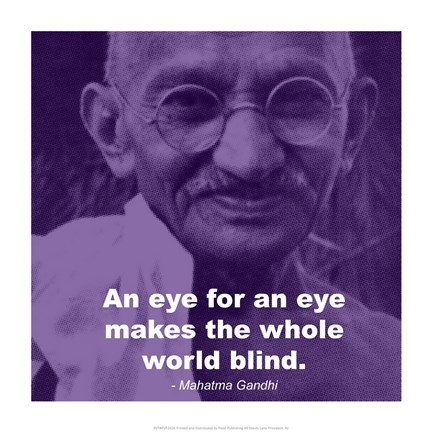 Framed Gandhi - Eye For An Eye Quote Print