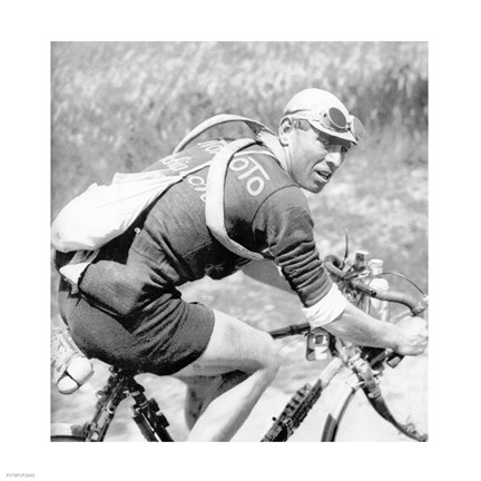 Framed Lucien Buysse in de Tour de France 1926 Print