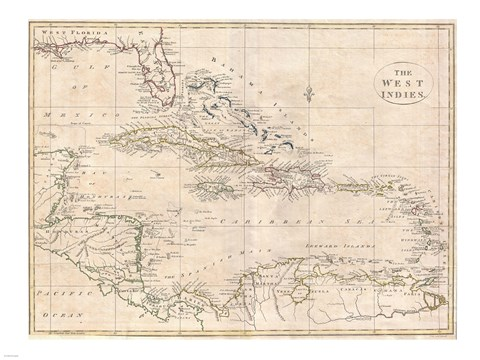 Framed 1799 Clement Cruttwell Map of South America Print