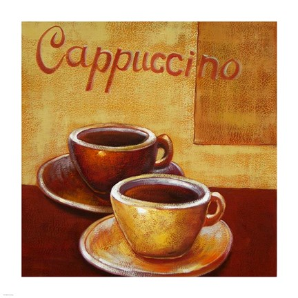 Framed Cappuccino Mugs Print