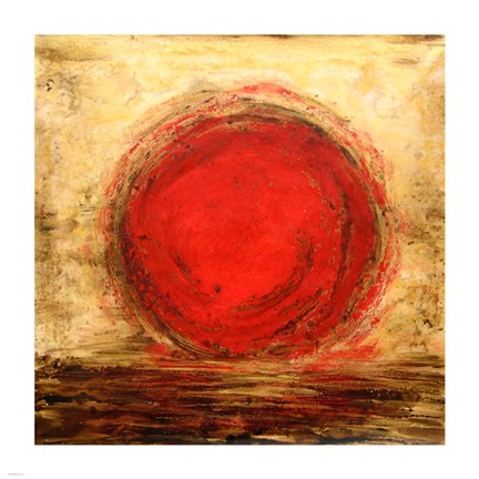 Framed Red Sun Print