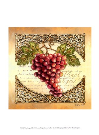 Framed Wine Grapes I Print