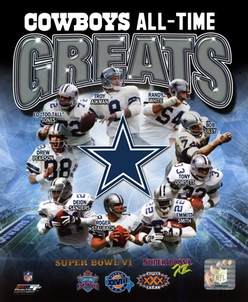 Framed Dallas Cowboys All Time Greats Composite Print