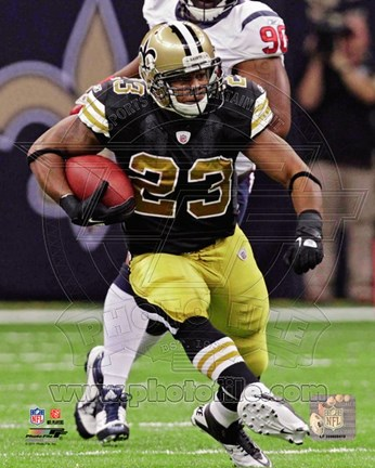 Framed Pierre Thomas 2011 Action Print