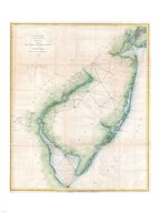 1873 U.S. Coast Survey Chart NJ and the Delaware Bay