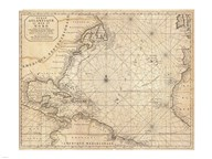 1683 Mortier Map of North America, the West Indies, and the Atlantic Ocean
