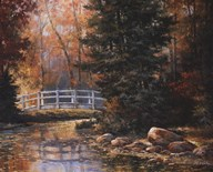 Foot Bridge in the Woods Art