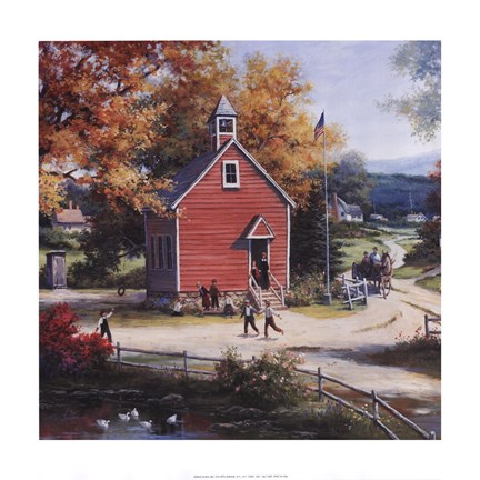Framed Country Schoolhouse Print