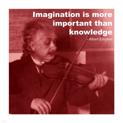 Framed Einstein Imagination Quote Print
