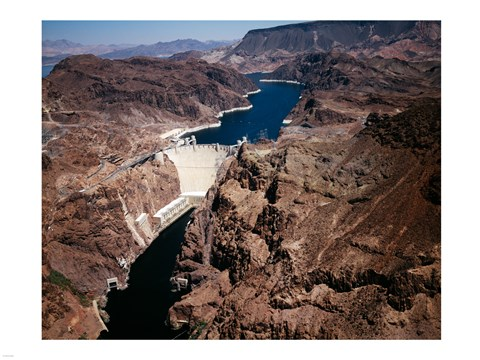 Framed Above Hoover Dam near Boulder City, Nevada Print