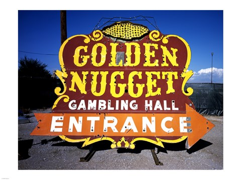 Golden Nugget Historic Casino Sign In The Neon Boneyard