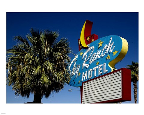 Framed Sky ranch motel sign Print