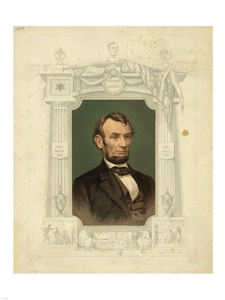 Framed Abraham Lincoln - framed Print