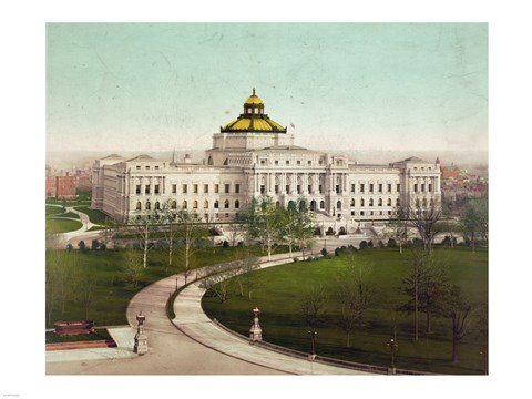 Framed Library of Congress Print